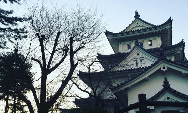 大垣城 関ヶ原を望む